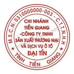 khắc dấu tròn công ty mẫu 4 chi nhánh