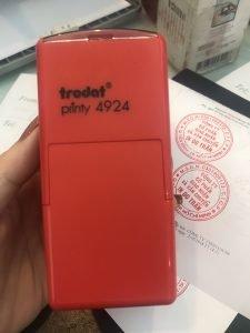 hộp dấu tròn trodat 4924