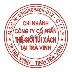 khắc dấu tròn công ty mẫu 3 chi nhánh